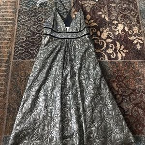 DVF Metallic Lace Dress